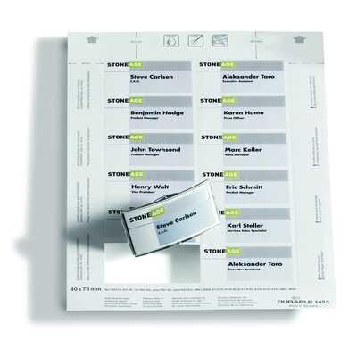 Wkłady do identyfikatorów Badgemaker 40x75 mm