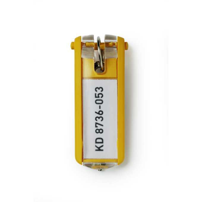 Zawieszki do kluczy KEY CLIP - Kolor: żółty