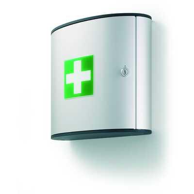 Apteczka bez wyposażenia mała M srebrna,FIRST AID BOX M DURABLE