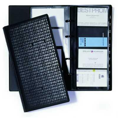 VISIFIX centium, album na 200 wizytówek, z przekładkami A-Z, PCW