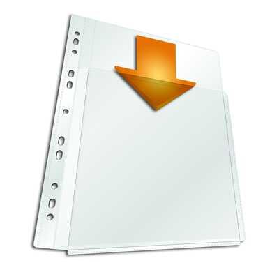 Kieszonki maxi, A4 pionowy, na większą objętość do katalogów