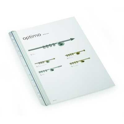 Grzbiet zaciskowy A4, szer.14,5mm, gr. 3mm na 30 kartek, z perforacją do segr.