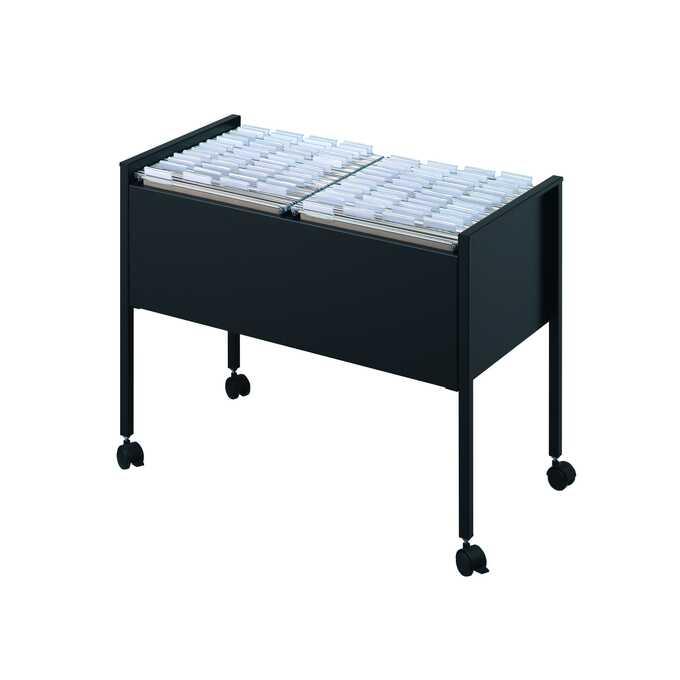 Wózek na teczki zawieszane ECONOMY DURABLE, 100 DUO A4 - Kolor: czarny