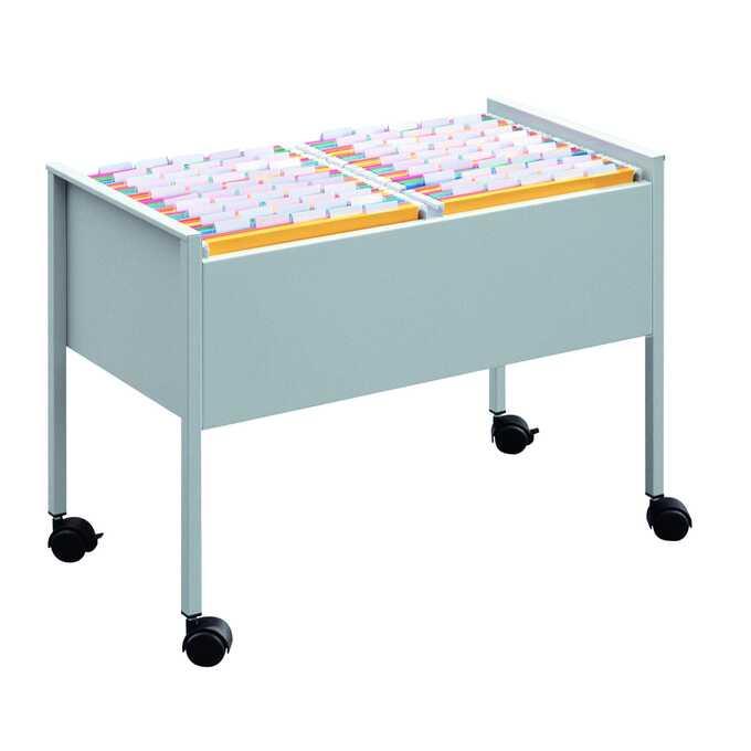 Wózek na teczki zawieszane ECONOMY DURABLE, 100 DUO A4 - Kolor: srebrny