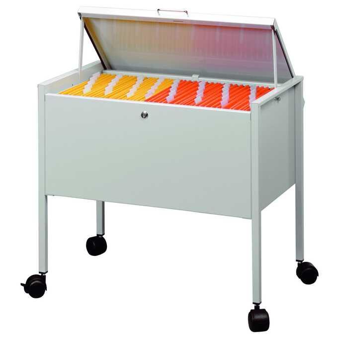 Wózek na teczki zawieszane ECONOMY DURABLE, 80 A4 TOP - Kolor: szary