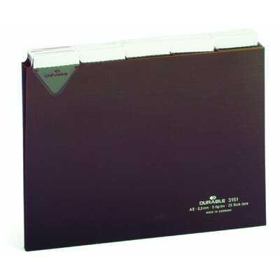 Przekładki A5 poziom 5/5 do kartoteki z twardego PCW 0,3mm z wsuwanymi indeksami 40 mm