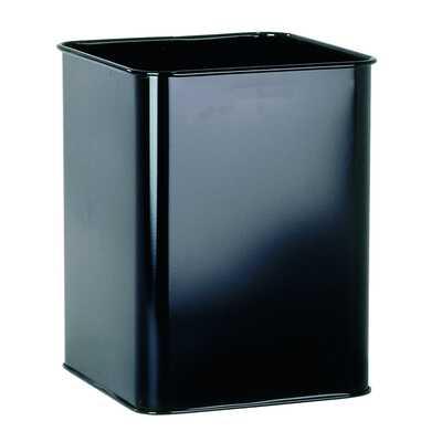 Kosz na śmieci, metalowy, kwadratowy 18,5