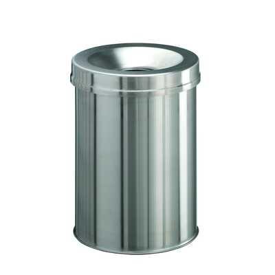 Kosz na śmieci SAFE, okrągły 15, metal szczotkowany DURABLE
