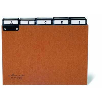 Przekładki A5 5/5 (A-Z) z preszpanu do kartoteki, z indeksami wsuwanymi 40mm