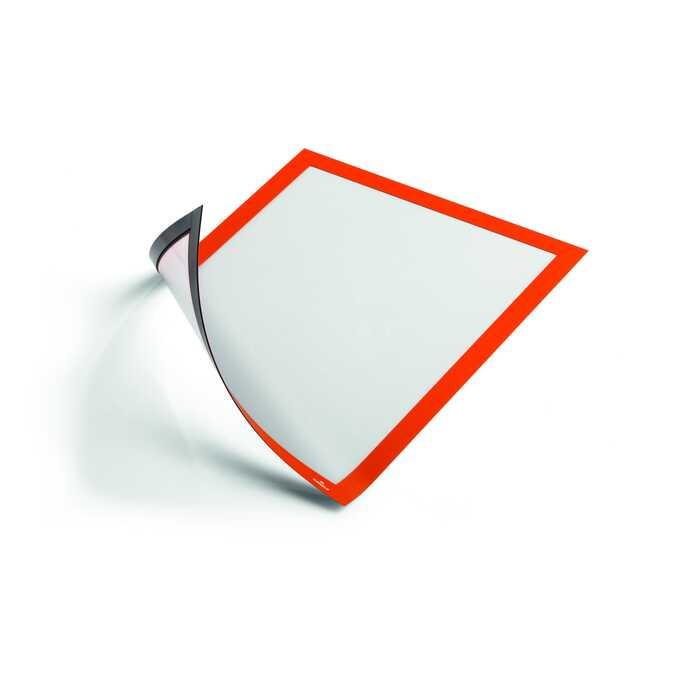 Ramka magnetyczna informacyjna  DURAFRAME MAGNETIC A4 DURABLE, 5 szt. - Kolor: pomarańczowy