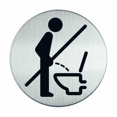Tabliczka Ø83 symbol WC: proszę usiąść