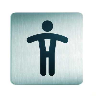 Tabliczka 150x150 mm symbol: WC panowie