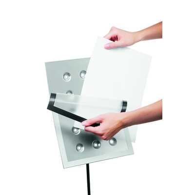 Tabliczka na podstawie podłogowej z ramką magnetyczną A4 DRAVIEW® STAND DURABLE