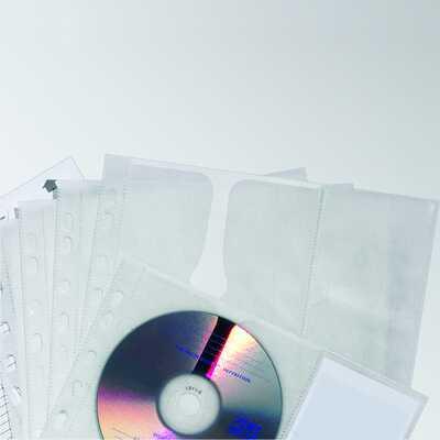 Kieszeń na 4 CD z PP z wyściółką ochronną, do segr. A4