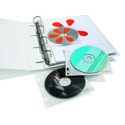 CD/DVD COVER FILE kieszonki z PP z wyściółką ochronną na 1 CD/DVD i opis