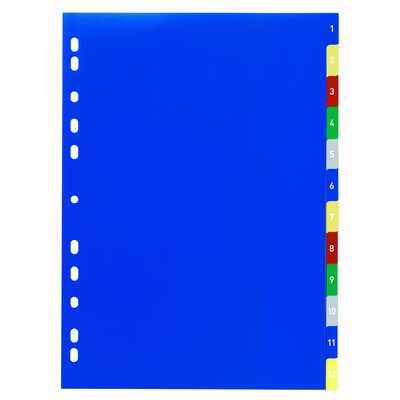 Przekładka z kolorowymi numerycznymi zakładkami DURABLE, 1-12