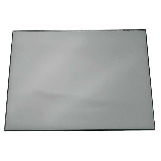 Podkład na biurko z przezroczystą nakładką DURABLE, 650 x 520 mm - Kolor: szary