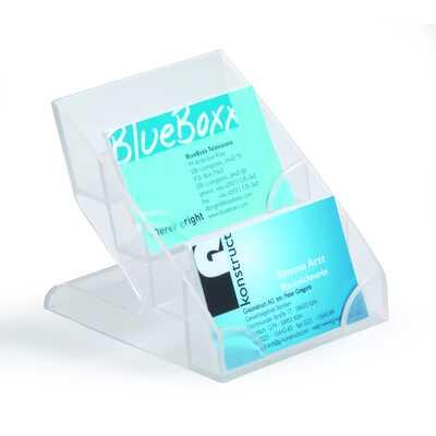 Business Card Display Box. Pojemnik na 240 wizytówek, 4 przegródki