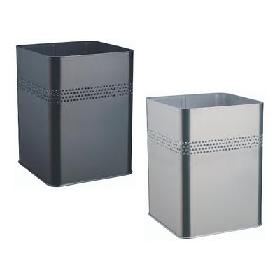 Kosz na śmieci, metalowy, kwadratowy 18,5, P 30 mm