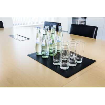 Podkład na biurko do sal konferencyjnych DURABLE, 420 x 300 mm, czarny