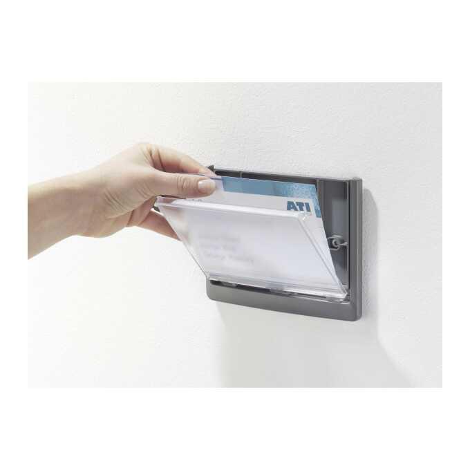 Tabliczka na drzwi lub ścianę, Click Sign 149x52,5 mm, grafitowa