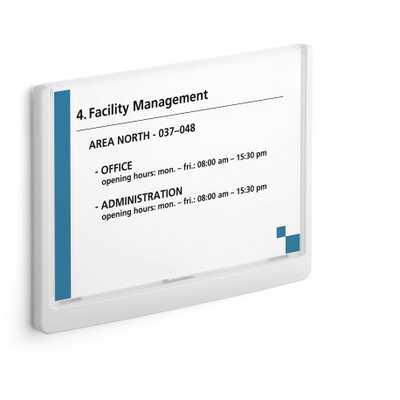 Tabliczka na drzwi lub ścianę Click Sign A5 DURABLE, 210 x 148,5 mm