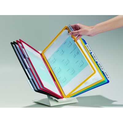 VARIO® PRO 10, stojak i 10 paneli A4, pion/poziom, ściana/stół.