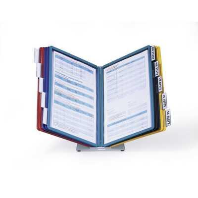 VARIO TABLE 10, stołowy zestaw paneli informacyjnych z 10 panelami A4