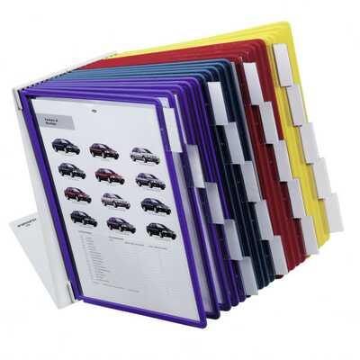 VARIO TABLE 20 zestaw prezentacyjny stołowy z 20 panelami A4