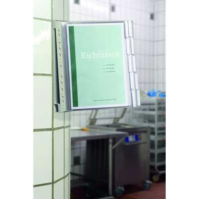 Zestaw paneli informacyjnych na ściane z 10 panelami A4 DURABLE