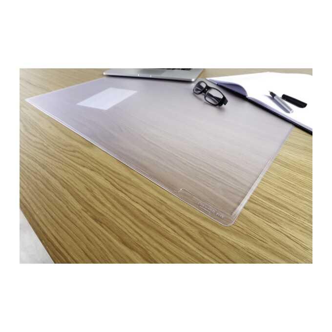 Podkład na biurko DURAGLAS DURABLE 650 x 500 mm, przezroczysty