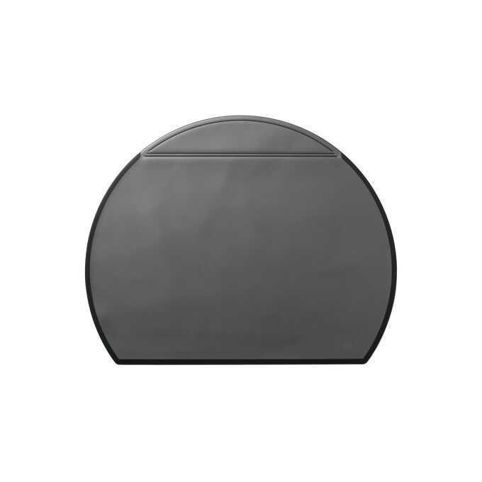 Podkład na biurko DURABLE, półokrągły, przezroczysta okładka, 650 x 520 mm