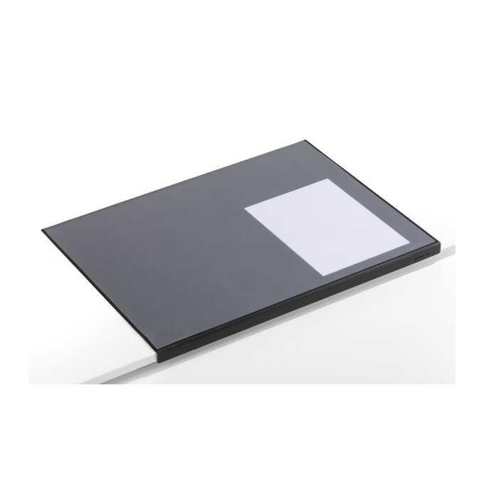 Podkład na biurko z zabezpieczeniem krawędzi DURABLE, 650 x 500 mm - Kolor: czarny