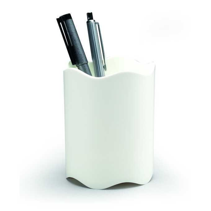 Pojemnik na długopisy TREND DURABLE - Kolor: biały