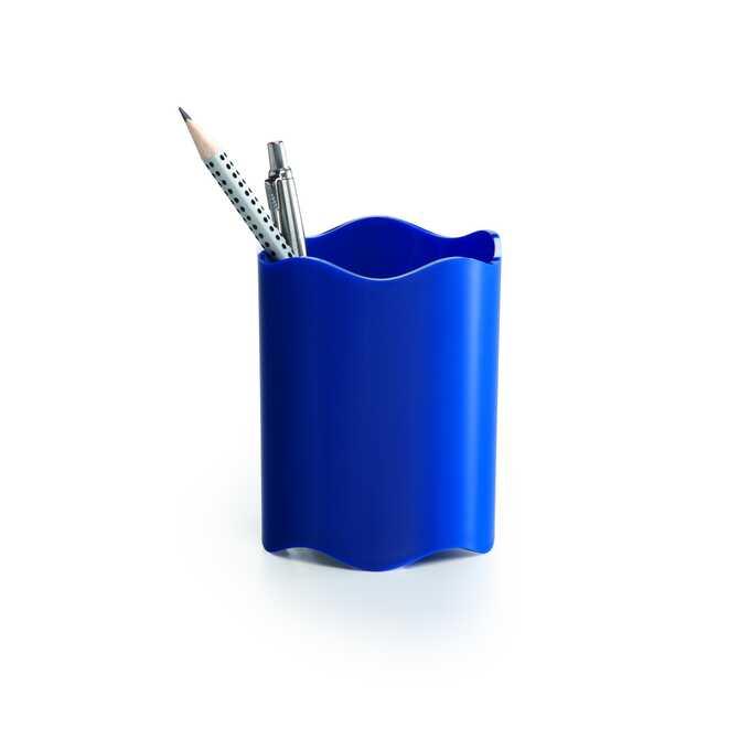 Pojemnik na długopisy TREND DURABLE - Kolor: niebieski