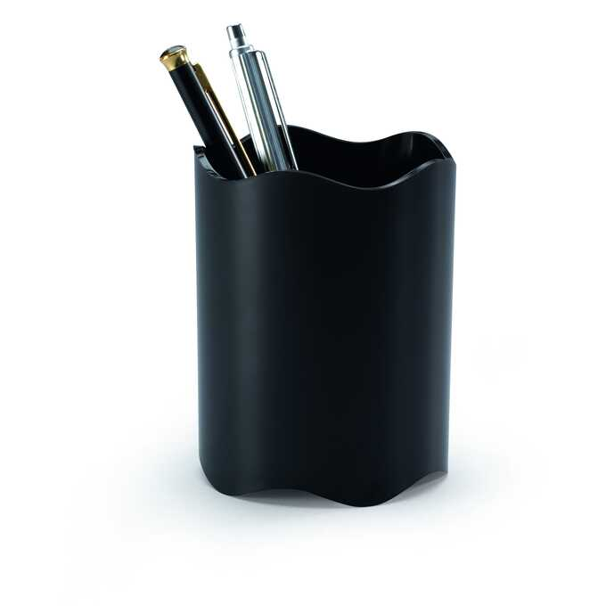 Pojemnik na długopisy TREND DURABLE - Kolor: czarny