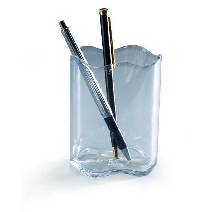 Pojemnik na długopisy TREND DURABLE - Kolor: przezroczysty