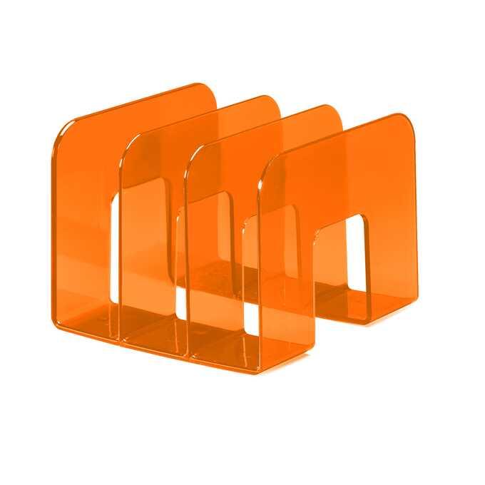 Stojak na katalogi TREND DURABLE - Kolor: pomarańczowy przezroczysty