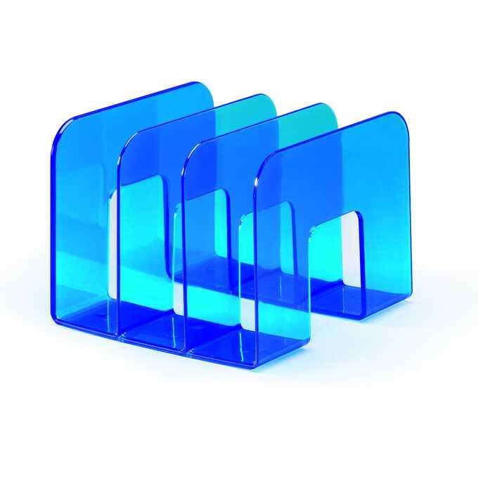 Stojak na katalogi TREND DURABLE - Kolor: niebieski przezroczysty