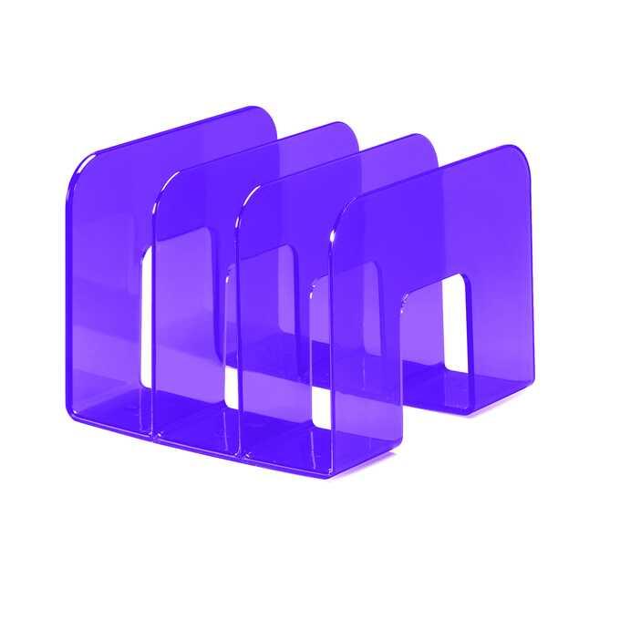 Stojak na katalogi TREND DURABLE - Kolor: purpurowy przezroczysty