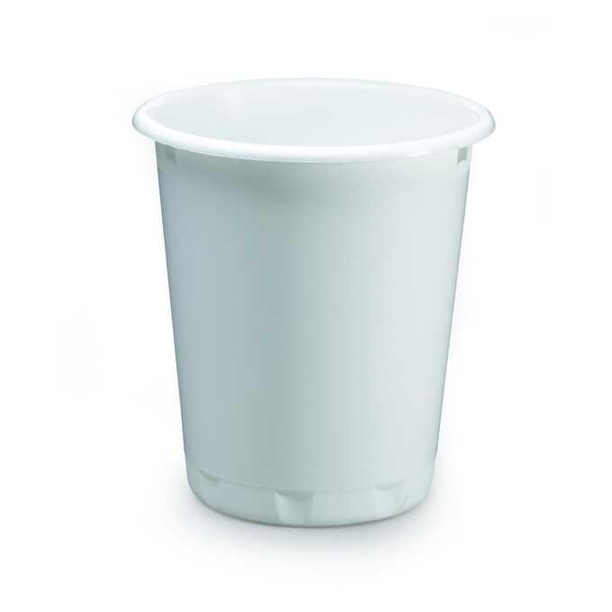 Kosz na śmieci 13 l BASIC DURABLE - Kolor: biały
