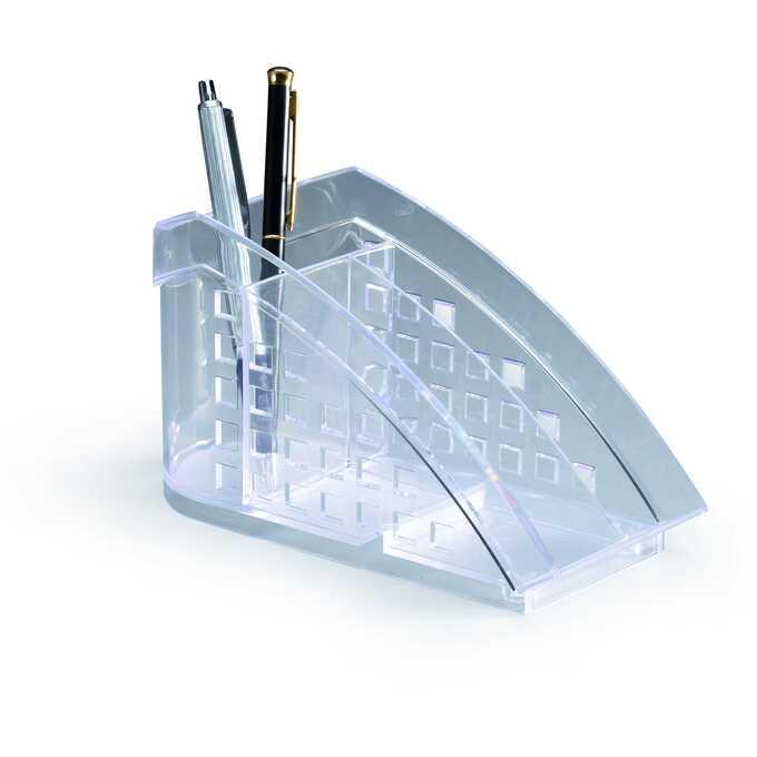 TREND przybornik na biurko TREND DURABLE - Kolor: przezroczysty