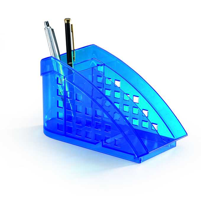 TREND przybornik na biurko TREND DURABLE - Kolor: niebieski przezroczysty