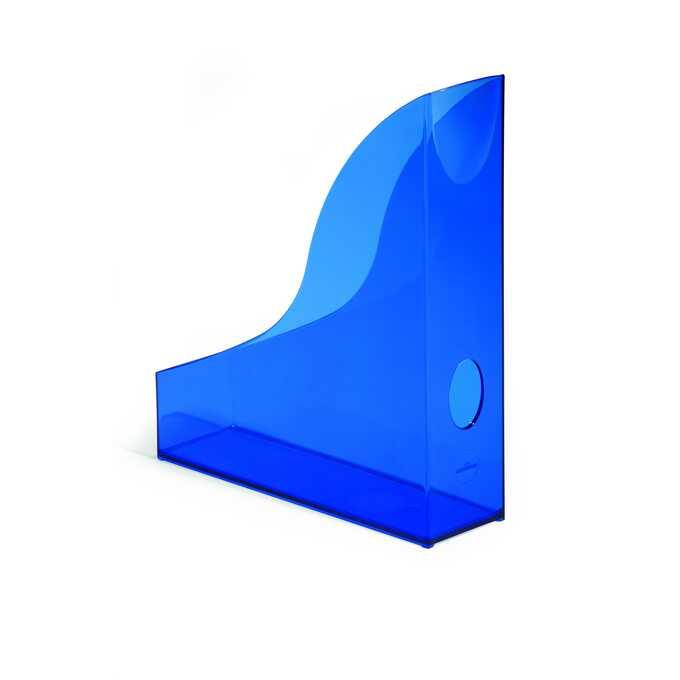 Pojemnik na katalogi A4 BASIC DURABLE - Kolor: niebieski przezroczysty
