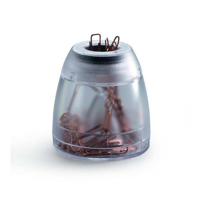 TREND pojemnik ze spinaczami DURABLE - Kolor: przezroczysty