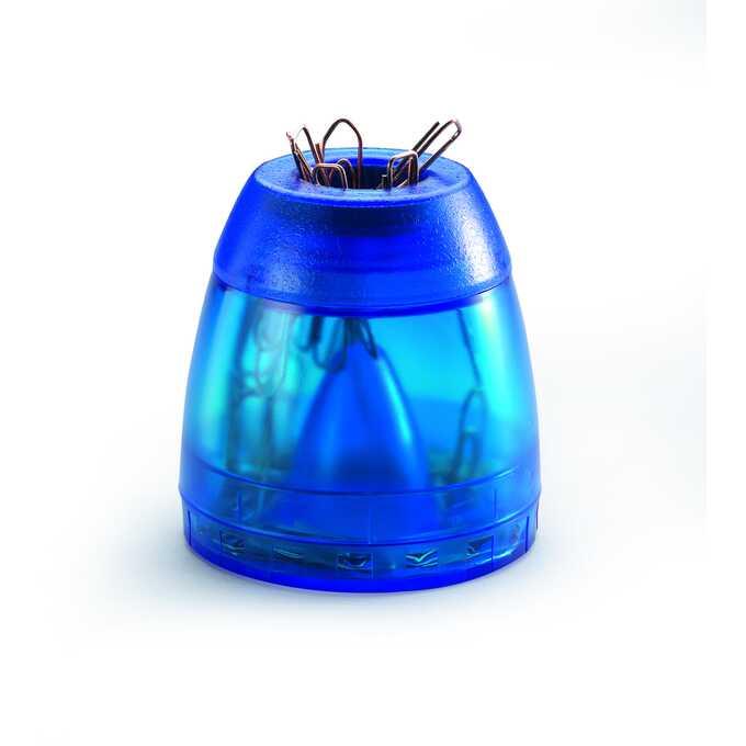 TREND pojemnik ze spinaczami DURABLE - Kolor: niebieski przezroczysty