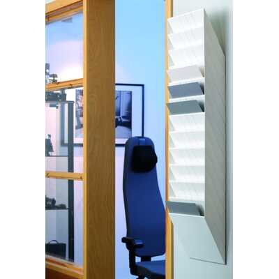 FLEXIBOXX A4 12 poziomych pojemników na dokumenty, kolor biały DURABLE