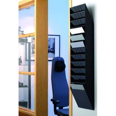 FLEXIBOXX A4 12 poziomych pojemników na dokumenty, kolor czarny DURABLE
