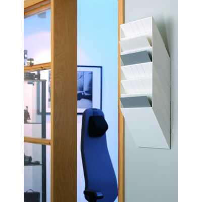 FLEXIBOXX A4 6 poziomych pojemników na dokumenty, kolor biały DURABLE