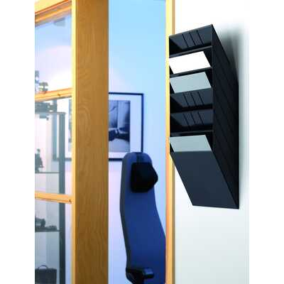 FLEXIBOXX A4 6 poziomych pojemników na dokumenty, kolor czarny DURABLE